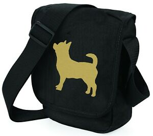 Chihuahua-Dog-Bag-Shoulder-Bags-Metallic-Gold-Dog-on-Black-Handbag-Mothers-Day