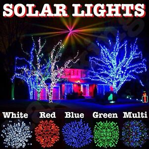 Details About Solar Fairy Christmas Lights Genuine Kasa 100 200 Led String Garden Patio