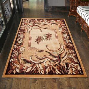 Teppich Wohnzimmer Klassisch Blumen Beige Design Laufer Xxl 200x300