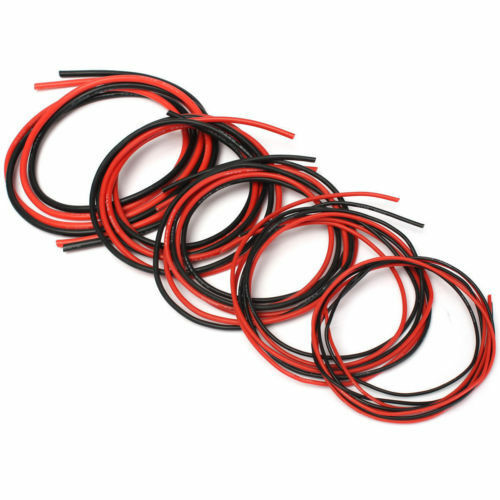 1M 12AWG 16AWG 18AWG 20AWG Flexible Silicone Wire RC Cable Red or Black