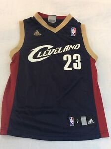 reputable site 1e11f cc639 Details about Adidas Lebron James Cleveland Cavaliers Basketball Jersey  small Blue Kids 2007