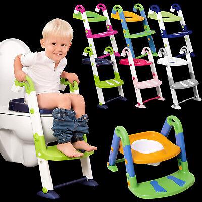 3in1 Kinder Kleinkind Toilettentrainer Töpfchen-Trainingsstuhl Toilettensitz Neu