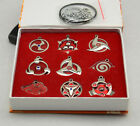 NARUTO Akatsuki necklace /pendant set 9pcs with box