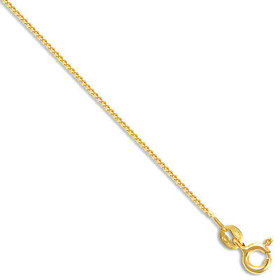 2019 Mode 18ct Gold Pendant Curb Chain Necklace 20 Inch New