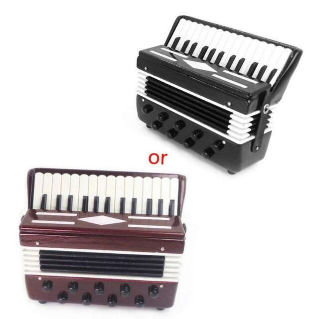 1:12 Dollhouse Mini Musical Instrument Violin /& Accordion Model Collection