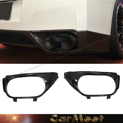 Fit NISSAN 08-11 GTR R35 Coupe Tuning Carbon Fiber Back Exhaust Surround Cover