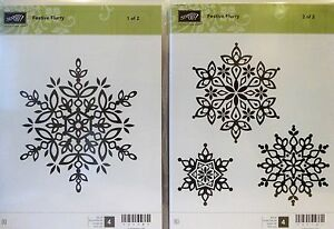 Stampin Up FESTIVE FLURRY clear mount stamps snowflakes Christmas snow