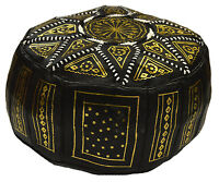 Ottoman Footstool Poof Moroccan Handmade Leather Foot Rest Poufs Hassock Pouffe