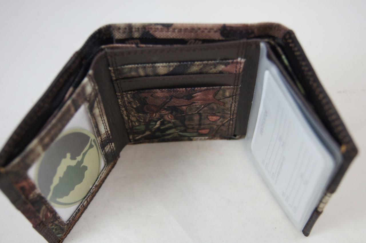 ZEP PRO NCAA Clemson Tigers MOSSY OAK Camo Leather Trifold Wallet Tin Gift Box