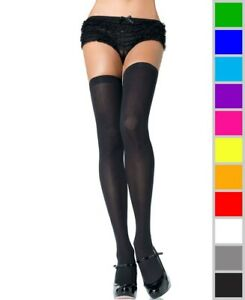 New-Leg-Avenue-6672Q-Plus-Size-Opaque-Knit-Over-Knee-Thigh-High-Stockings
