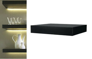 Lovely Image Is Loading IKEA Wall Shelf Black Floating Conceal Mounting Book