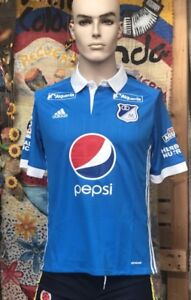 56857d46fa5 Image is loading Millonarios-FC-Jersey-Bogota-Colombia-Short-Sleeve-Sizes-