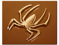 1x Golden 3D Spider Metal Badge Decor Car Autos Sticker Decal Emblem For Hyundai