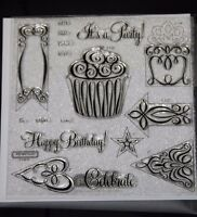 Close To My Heart Acrylic Stamps D1497 Happy Birthdayset Of 16, Brand