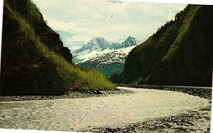Vintage Postcard - Thompson Pass and The Lowe River Alaska AK Un-Posted #1357