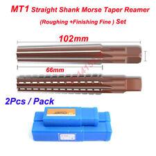 2pcs Mt1 Straight Shank Morse Taper Reamer Set Roughingfinishing Reamertool New