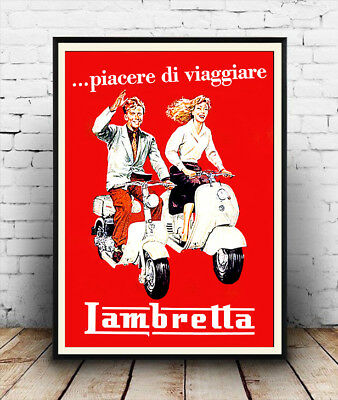 lambretta, Vintage motorcycle-poster reproduction