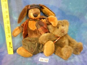 Vintage Ganz Cottage Collectibles Bunny Minky Teddy Bear 2p Stuffed Animals De42 Ebay