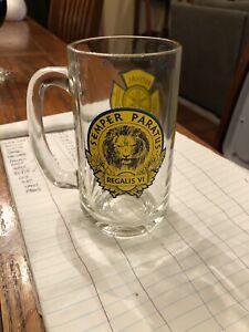 York PA Royal Fire Co 75th Anniv Glass Beer Mug Vintage 1976 Semper Paratus