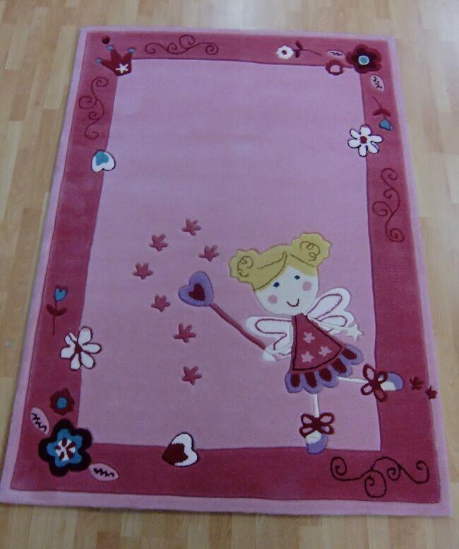 Tapis pour Enfants Princesse 2491-01 Rose de Jeu 160x220 cm 2,5cm   Hauteur