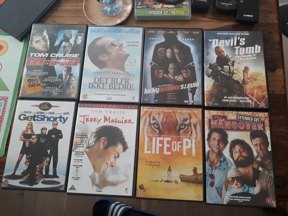 Mange forskellige titler, DVD, andet