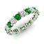 thumbnail 1 - 2.54 Ct Round Cut Diamond Engagement Emerald 14K White Gold Finish Eternity Band