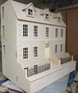 1-12-scale-Dolls-House-Dalton-House-3ft-wide-with-Basement-KIT-by-DHD