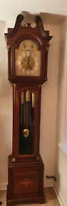 Antique Musical Tube Chiming Mahogany Regulator Longcase Grandfather Clock