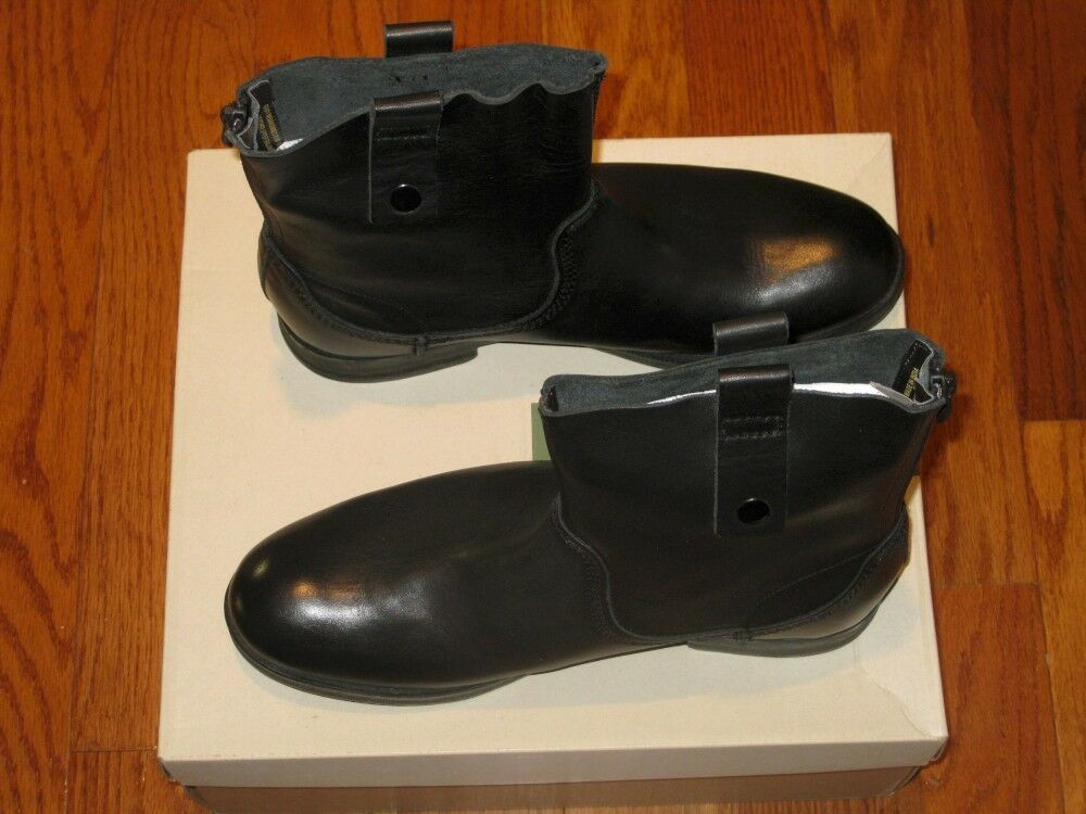 New  140 Clarks Mens Leather Goby Chelsea Ankle Boots shoes Black 8M 8.5M