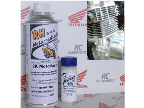 Motorlack Lack Grau Silber Honda CB 500 550 750 Four Engine Enamel Grey Silver