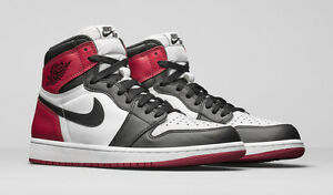 7ba47037a36 Nike Air Jordan 1 Retro I High OG Black Toe 555088-125 DS Banned ...