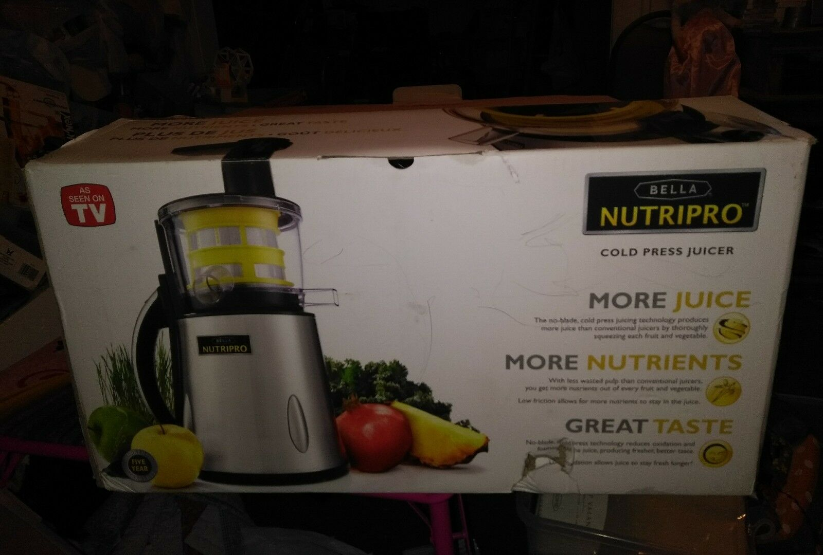 BELLA NUTRIPRO Cold Press Juicer