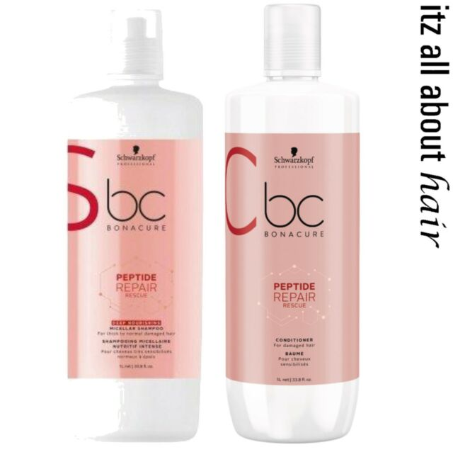 Schwarzkopf BC BONACURE Repair Rescue Shampoo, Conditioner 1lt Duo