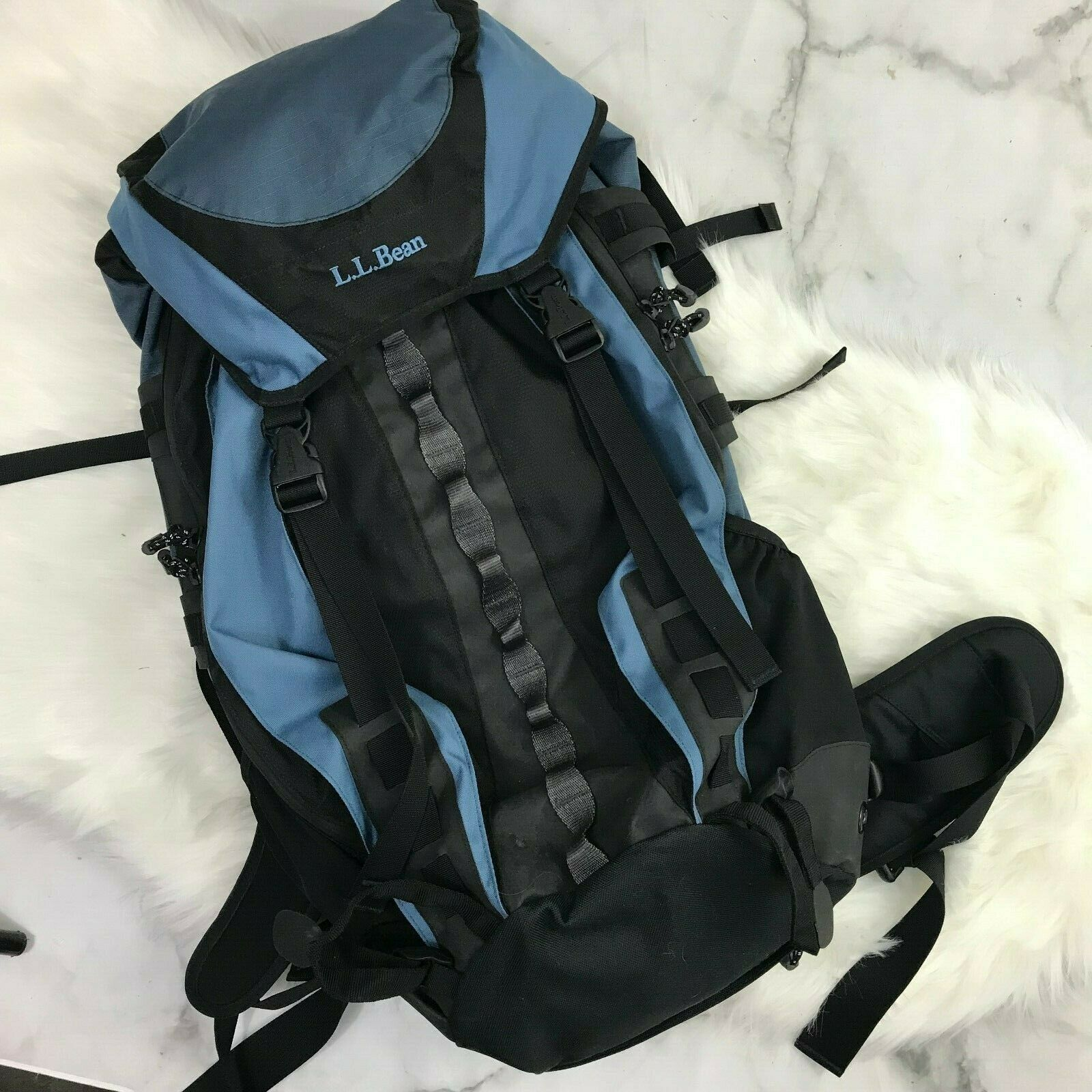 L.L. Bean Backpacking Mountain Pack 0XT21 Blau Hiking Pack Camping Outdoors EUC