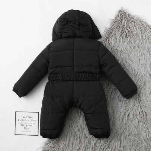 Toddler Infant Baby Boy Girl Romper Jacket Hooded Jumpsuit Thick Coat Outfit 81