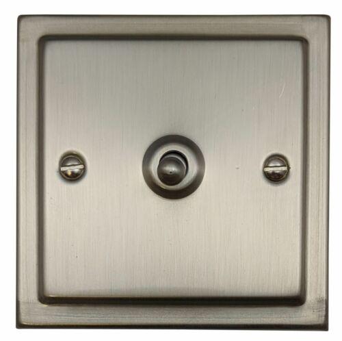 G/&h TSN281 Trimline plaque Matt Chrome 1 Gang 1 Ou 2 Way Toggle interrupteur de lumière