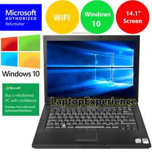 Details about DELL LATiTUDE LAPTOP WINDOWS 10 INTEL CORE 2 DUO DVD WiFi  NOTEBOOK HD COMPUTER
