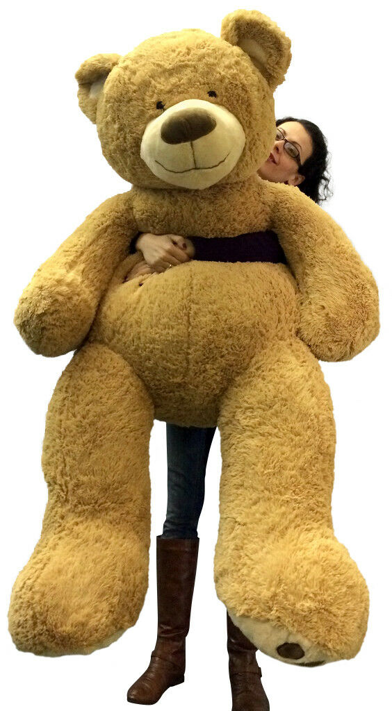 5 Foot Very Big Smiling Teddy Bear Soft with Bigfoot Paws, Giant Stuffed Animal