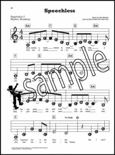 Disney/'s Aladdin E Z Play Today Sheet Music Book Keyboard Easy SAME DAY DISPATCH