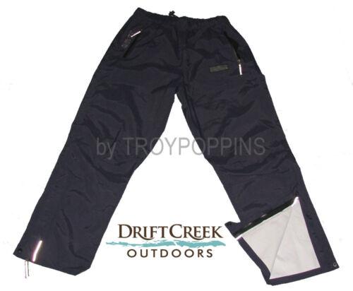 DRIFT CREEK OUTDOORS #7905P NAVY TUNDRA TECH RUGGED RAIN GEAR MENS PANTS FISHING