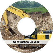 Building Construction Builder Carpentry Masonery Concrete PDF Manuals on CD