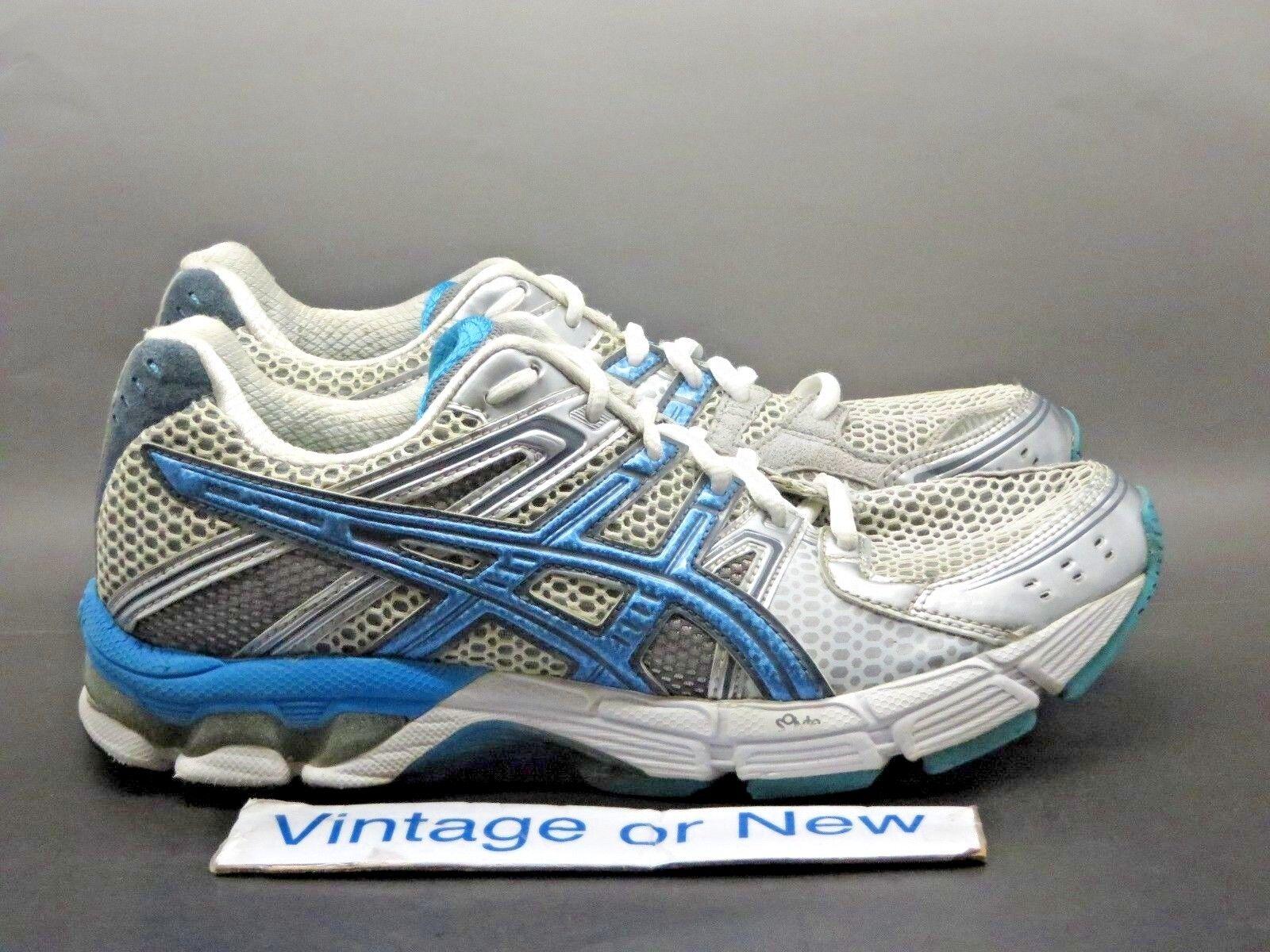 Women's Asics Gel-3030 White Sky bluee Titan Running shoes T196N sz 8.5
