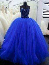 2016 Blue Beading Quinceanera Dresses For 15 Years Prom Party Dress Custom