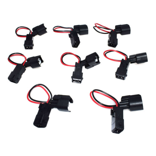 New Adapter Harness plug from EV1 plug to EV6 2 pin Fuel injector Pigtails 8pcs