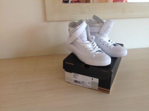 High Trainers Størrelse Converse White Leather 4 Top Bnib qTwHvpv