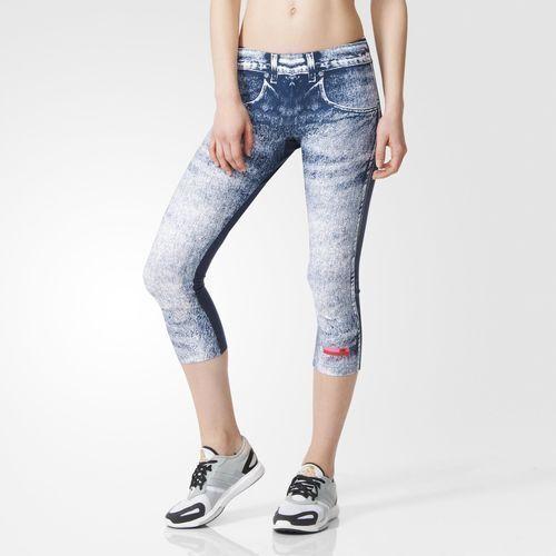 [ADIDAS] STELLASPORT Graphic Tights Stella Denim 3 4 Capri Pants Women 932321