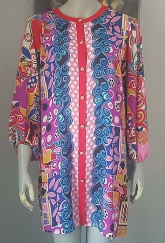 Diane Fres Original Vintage Tunic 80's Geometric C