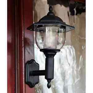 solarbetrieben led viktorianisch wandleuchte lampe laterne garten terrasse t r ebay. Black Bedroom Furniture Sets. Home Design Ideas