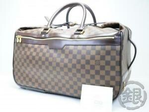 1f3ab4935185 AUTH PRE-OWNED LOUIS VUITTON LV DAMIER EOLE 50 DUFFLE TROLLEY BAG ...