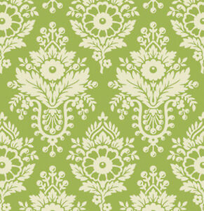 Heather Bailey Up Parasol Lulu Damask Fabric In Green Pwhb046 100